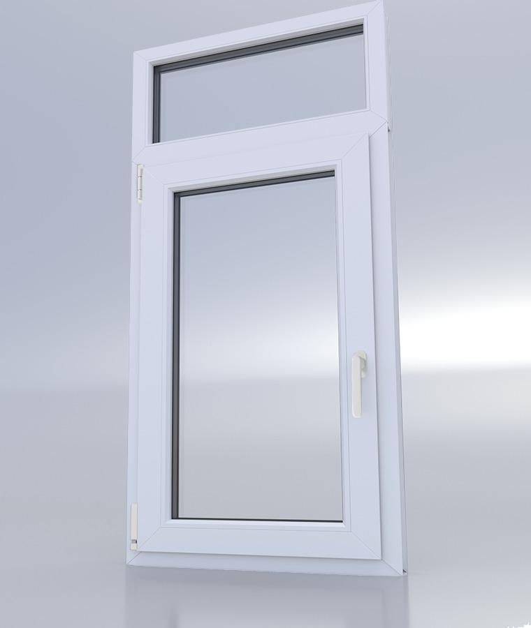 Fenêtre PVC avec imposte