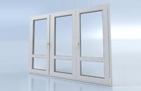 Porte fenêtre 3 vantaux avec traverse